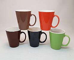Чашка конус цветная глазурь 220 мл.