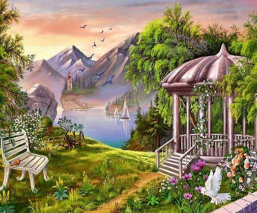 """Картина за номерами EKTL1769_O 30*40см """"Пейзаж"""" OPP (полотно на рамі з фарбами.кисті)"""