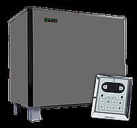 Напольная электрокаменка EcoFlame SAM D-18 кВт с пультом, объем парилки 17-29 м.куб вес камней 85 кг