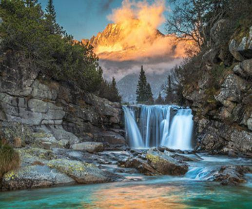 "Картина по номерам EKTL1762_O 30*40см ""Водопад"" OPP (холст на раме с краск.кисти)"