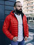Мужская осенняя куртка Asos (red), стеганная мужская куртка, фото 3
