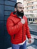 Мужская осенняя куртка Asos (red), стеганная мужская куртка, фото 4