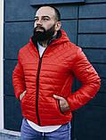 Мужская осенняя куртка Asos (red), стеганная мужская куртка, фото 5