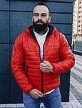 Мужская осенняя куртка Asos (red), стеганная мужская куртка, фото 6