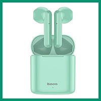 Bluetooth наушники Baseus W09 Encok TWS GREEN