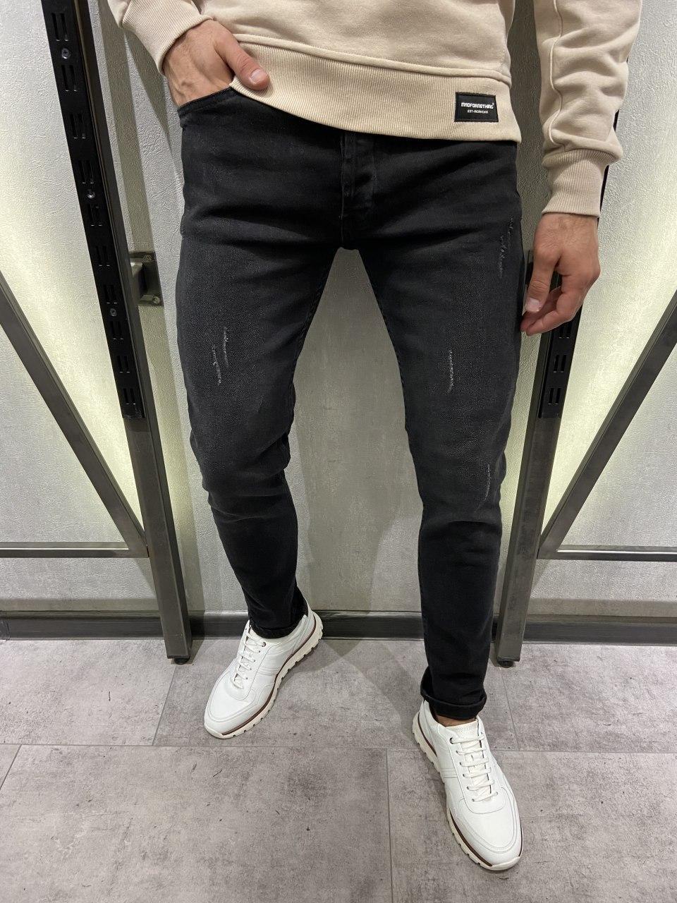 Мужские джинсы темно-серые 19489