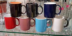 Чашка цилиндр цветная глазурь 380 мл.