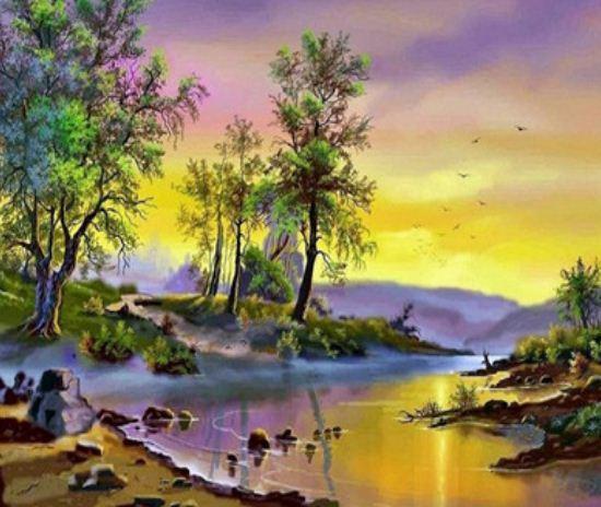 "Картина по номерам EKTL1384_O 30*40см ""Природа"" OPP (холст на раме с краск.кисти)"