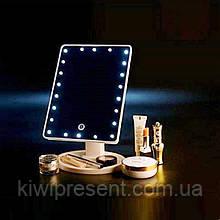 Косметическое зеркало с подсветкой для макияжа 22 лампочками с led-подсветкой настольное сенсорное