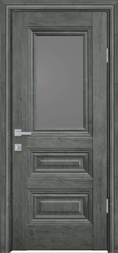 """Двері засклені міжкімнатні новий стиль Прованс """"Камілла BR,G,GRF"""" 60,70,80,90 см горіх сибірський"""