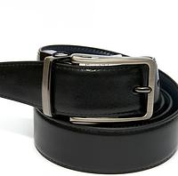 Ремінь чоловічий шкіряний/ремень мужской/ на пояс двосторонній у 2-х моделях і 2-х кольорах. Шоколад/чорний.