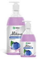 Жидкое крем-мыло Milana «Черника в йогурте» 1 л. с дозатором 126301