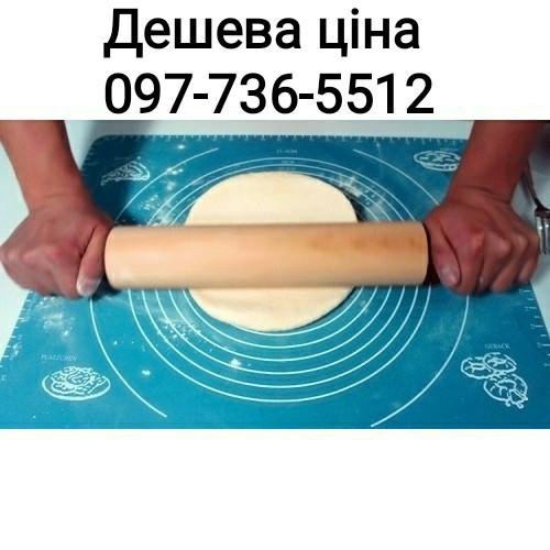 Силиконовый коврик для раскатки и выпечки теста 60-42 см Голобой