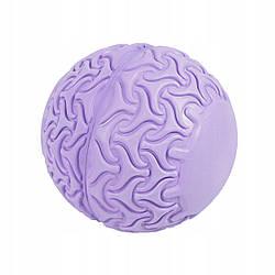 Массажный мяч SportVida Massage Ball 13 см SV-HK0233 Purple для дома и спортзала фиолетового цвета