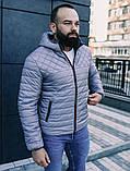 Мужская осенняя куртка Asos (Grey), стеганная мужская куртка, фото 3