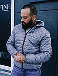 Мужская осенняя куртка Asos (Grey), стеганная мужская куртка, фото 4
