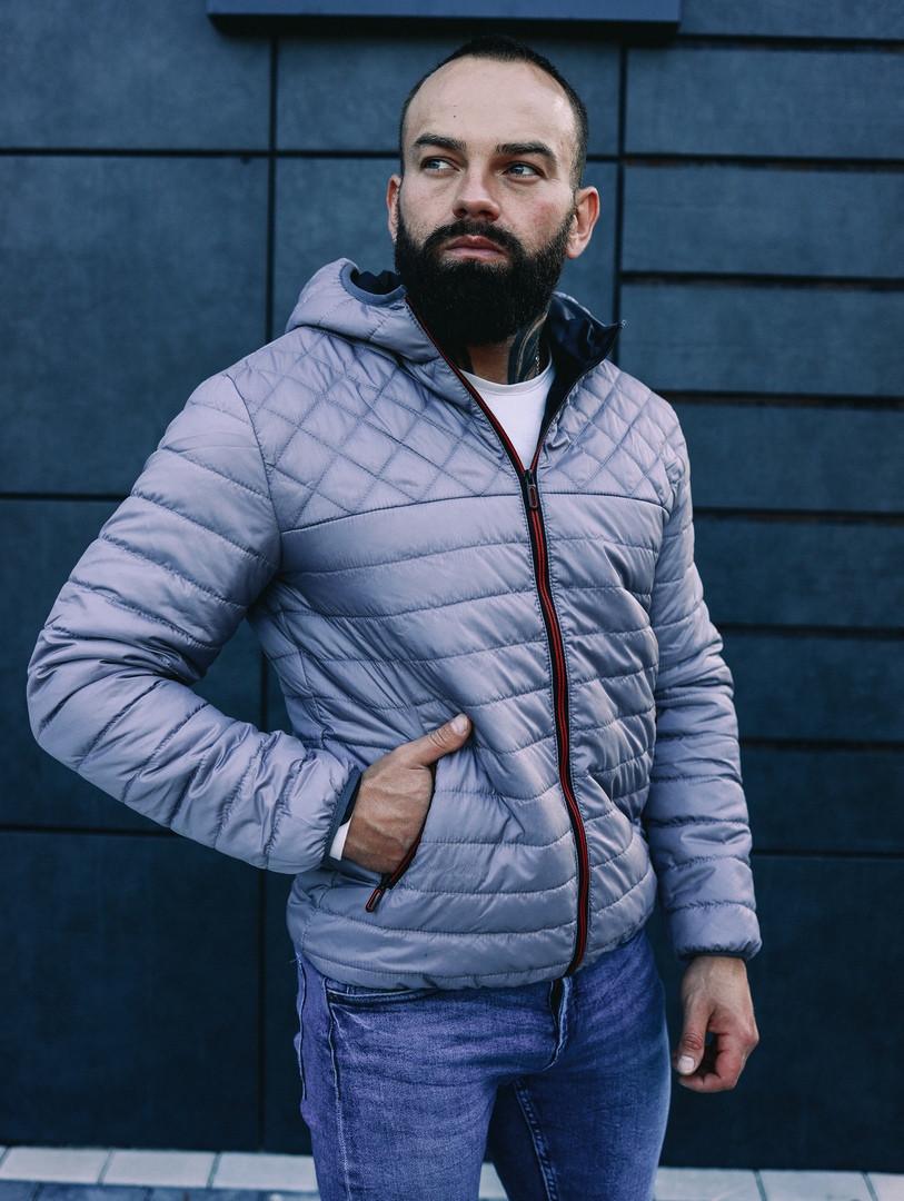 Мужская осенняя куртка Asos (Grey), стеганная мужская куртка