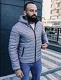 Мужская осенняя куртка Asos (Grey), стеганная мужская куртка, фото 6