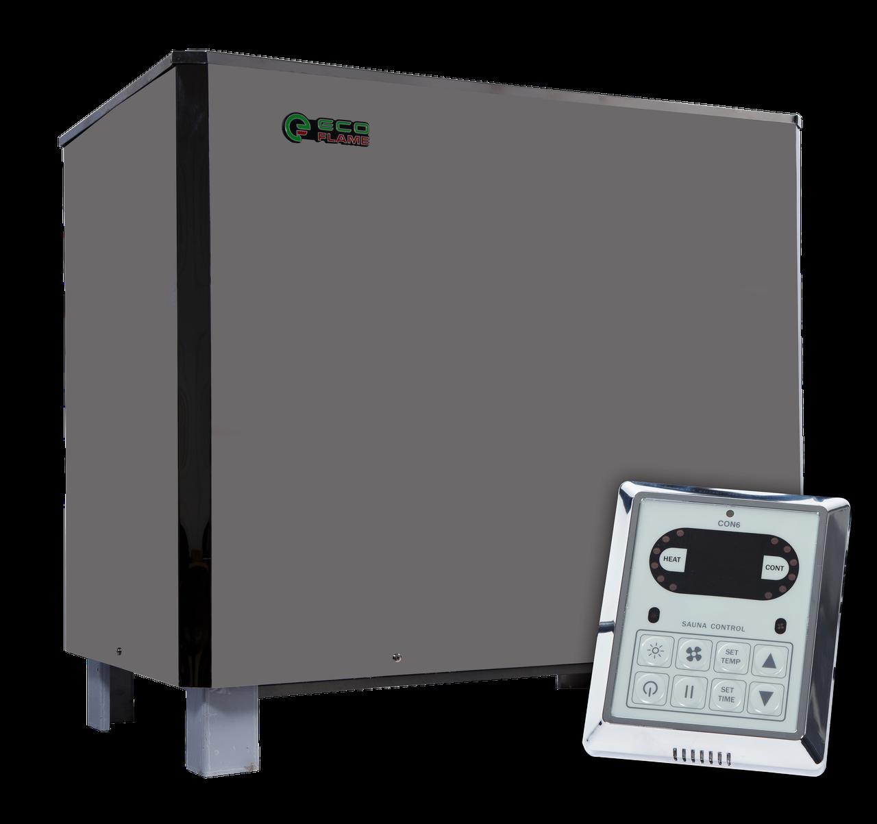Напольная электрокаменка EcoFlame SAM D-25 кВт с пультом объем парилки 36-45 м.куб вес камней 100 кг