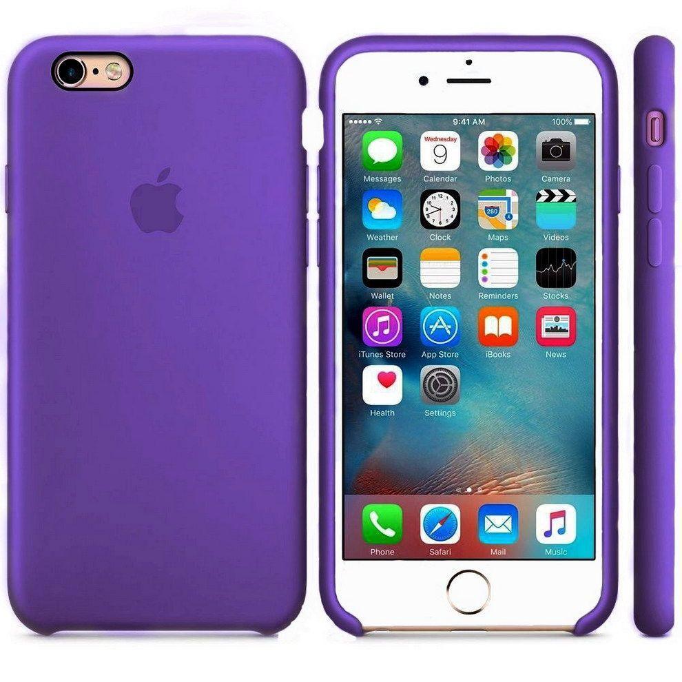 Чехол Apple Silicone Case iPhone 6, iPhone 6S Violet_High Copy