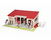 Игровой набор Papo Большая Конюшня (Стойло для Лошадей), 54,5*38*21,5 см, 60102