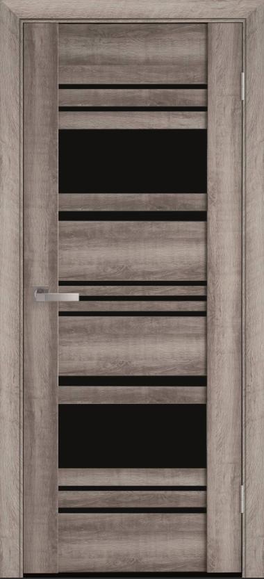 """Двері засклені міжкімнатні новий стиль Віва """"Ніцца BLK,G,GRF"""" 60,70,80,90 см баварський бук"""