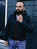 Чоловіча осіння куртка Asos (Black), стьобаний чоловіча куртка, фото 4
