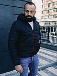 Чоловіча осіння куртка Asos (Black), стьобаний чоловіча куртка, фото 5
