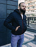 Чоловіча осіння куртка Asos (Black), стьобаний чоловіча куртка, фото 6