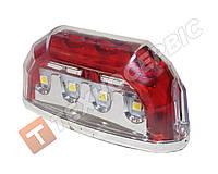 Подсветка номера 8LED корпус красный хромированный (пр-во CERAY Турция)