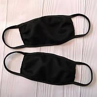 Чорна тканинна маска для обличчя