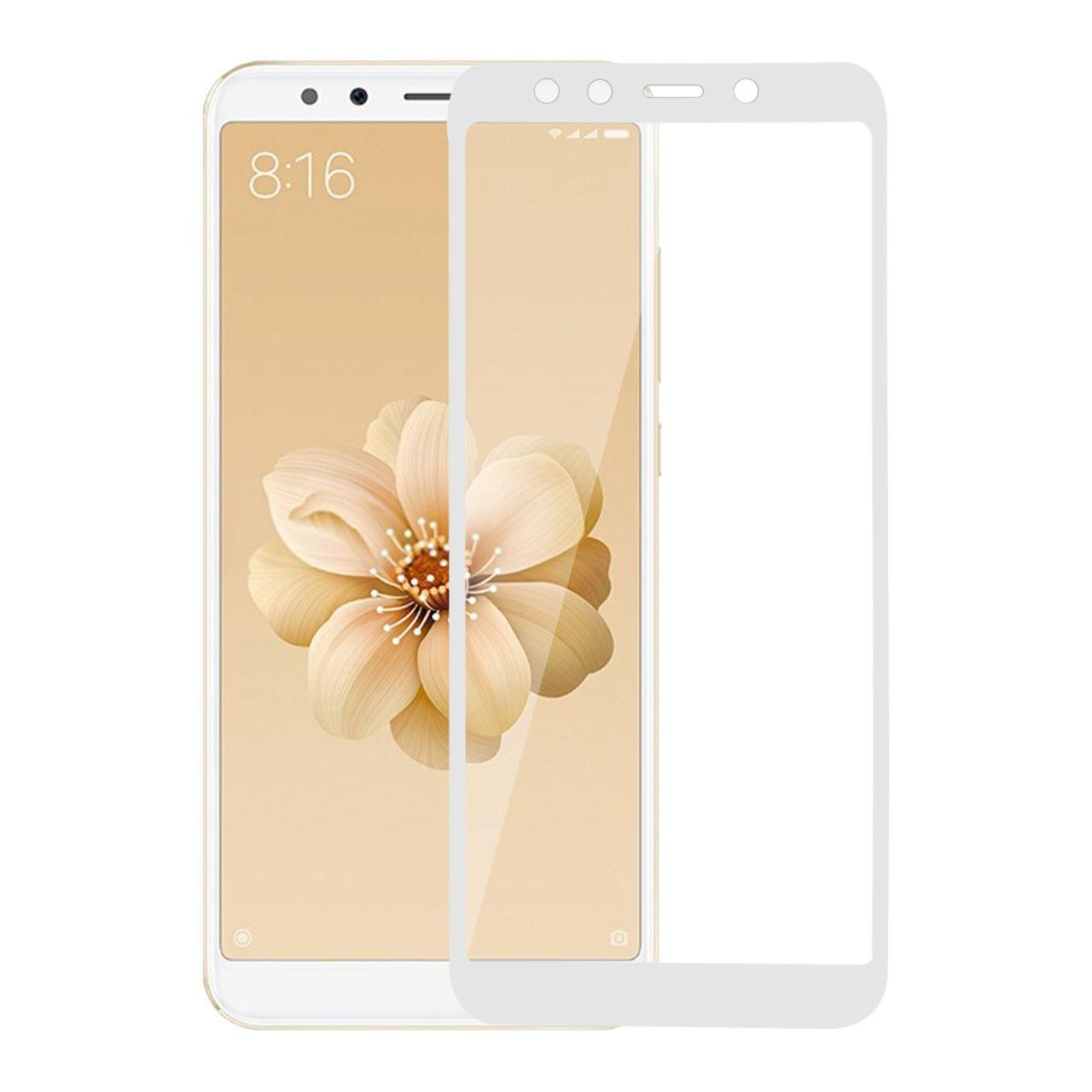 Защитное стекло MakeFuture Full Cover Full Glue Xiaomi Mi A2, Mi 6X White (MGFCFG-XMA2W)