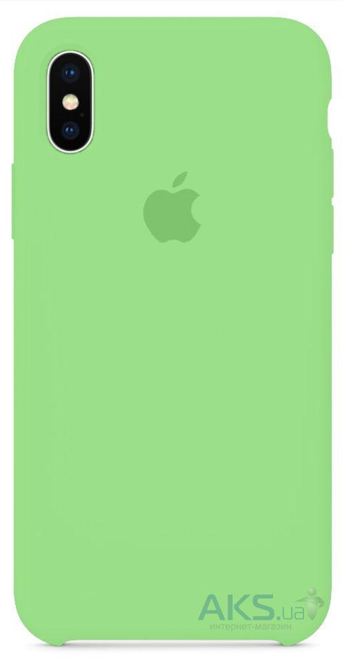 Чехол Apple Silicone Case iPhone XS Max Mint_High Copy