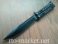 Нож бабочка (балисонг) черный(Black) Качественная 440 C сталь