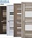 """Двері засклені міжкімнатні новий стиль Віва """"Ніцца BLK,G,GRF"""" 60,70,80,90 см баварський бук, фото 7"""