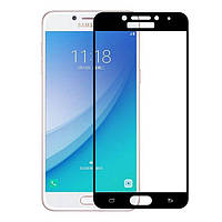 Защитное стекло PowerPlant Full Screen Samsung A720 Galaxy A7 2017 Black (GL605446)