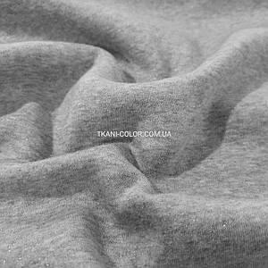 Футер трехнитка с начесом светло-серый меланж с напылением