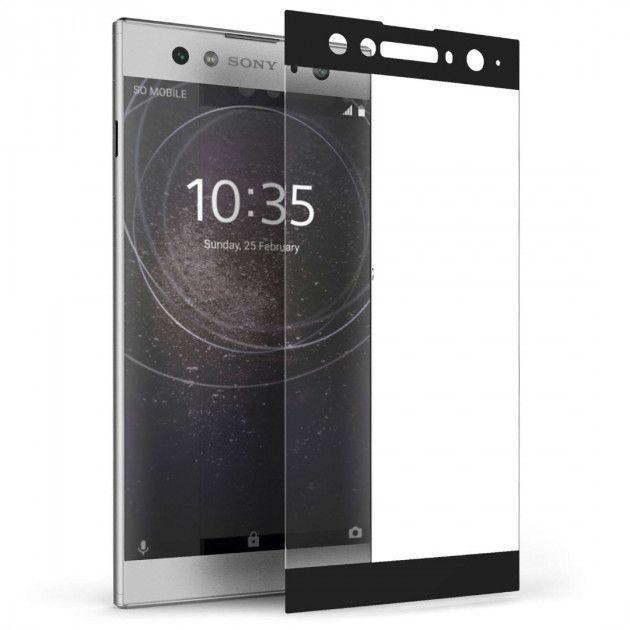 Защитное стекло PowerPlant Full Screen Sony Xperia XA2 Ultra Black (GL605477)