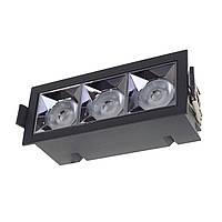 Светильник точечный LED HDL-DT 203/3*4W NW BK, фото 1