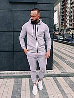 .Мужской осенний спортивный костюм Asos (grey), серый спортивный костюм
