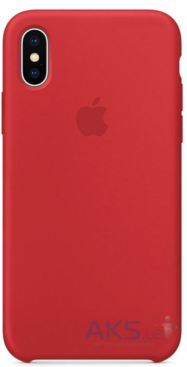 Чехол Apple Silicone Case iPhone XS Red_High Copy