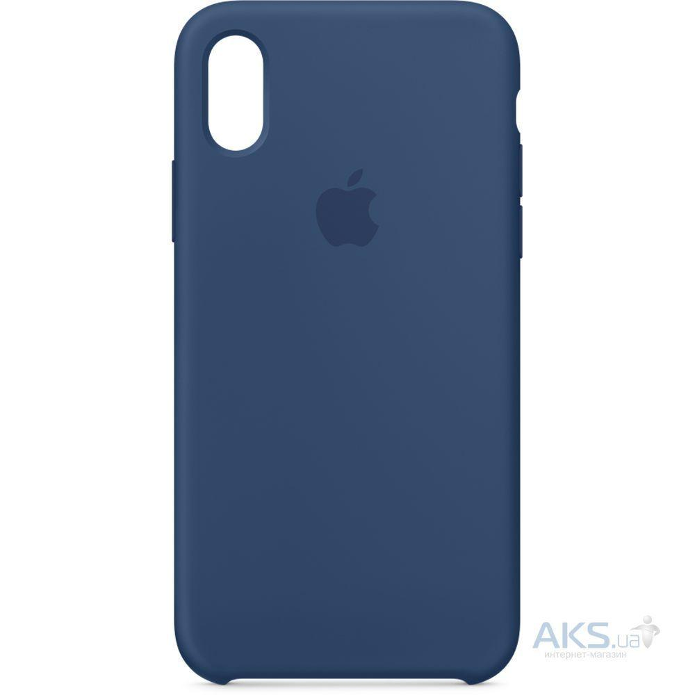 Чехол Apple Silicone Case iPhone XS Midnight Blue_High Copy
