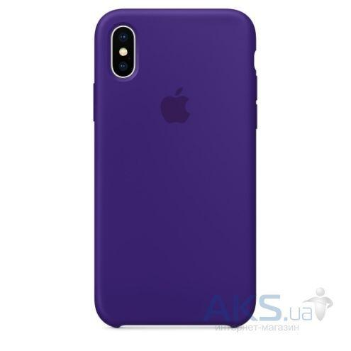 Чехол Apple Silicone Case iPhone XS Violet_High Copy