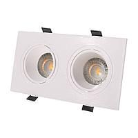 Светильник точечный HDL-DT 95/2 GU5.3 WH, фото 1