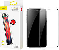 Защитное стекло Baseus 0.23mm curved-screen Apple iPhone XS Max, 11 Pro Max Black (SGAPIPH65-PE01), фото 1