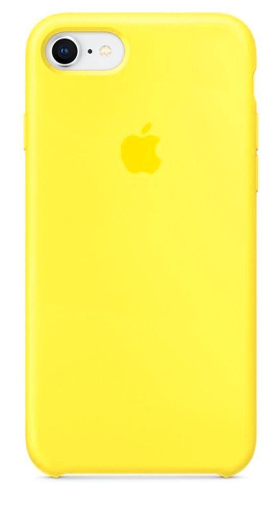 Чехол Apple Silicone Case  iPhone 7, iPhone 8 Yellow_High Copy