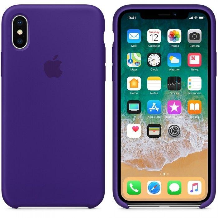 Чехол Apple Silicone Case iPhone XS Max Violet_High Copy