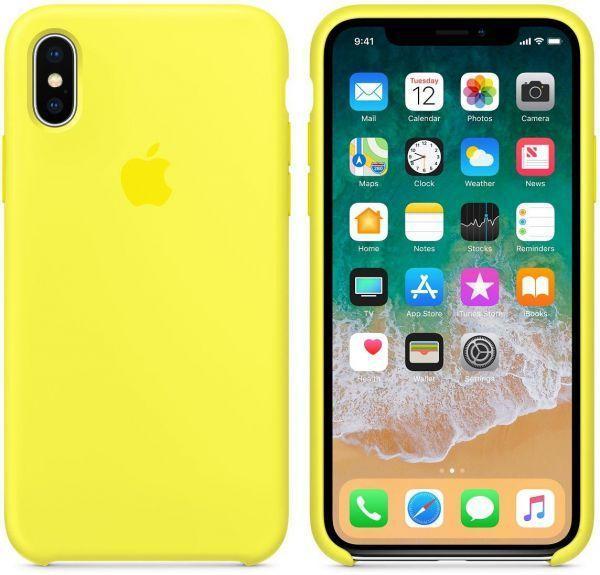 Чехол Apple Silicone Case iPhone XS Max Yellow_High Copy