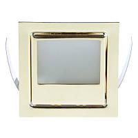 Светильник точечный квадрат HDL-07-WL10A BRASS, фото 1