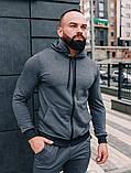 .Мужской осенний спортивный костюм Asos (dark grey), серый спортивный костюм, фото 4